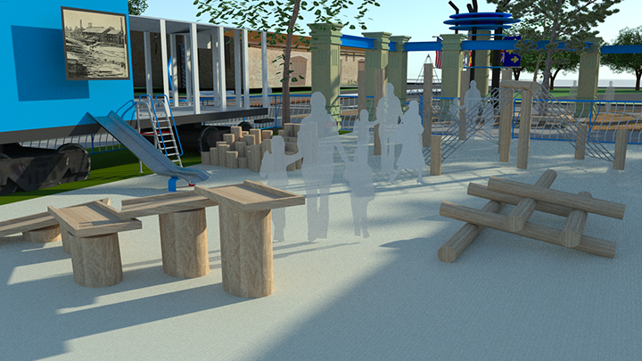 rendering of interactive early learning playground